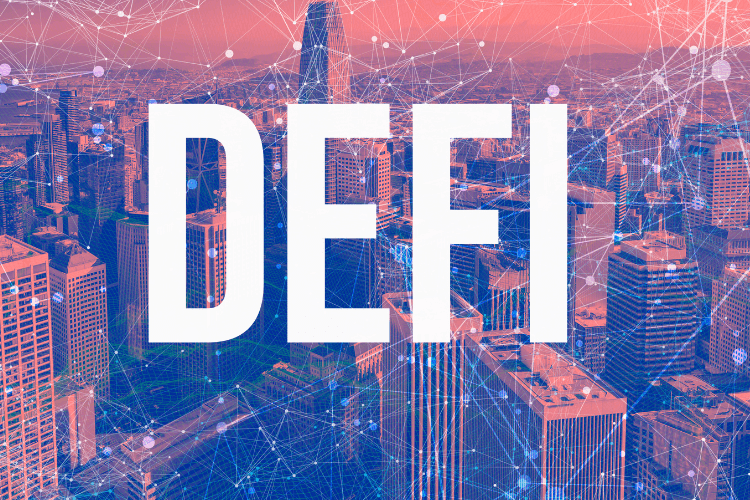 New York city interconnected with DEFI written over it