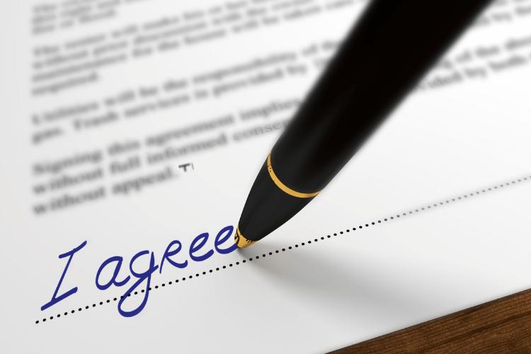 Pen, Paper Implying Agreement