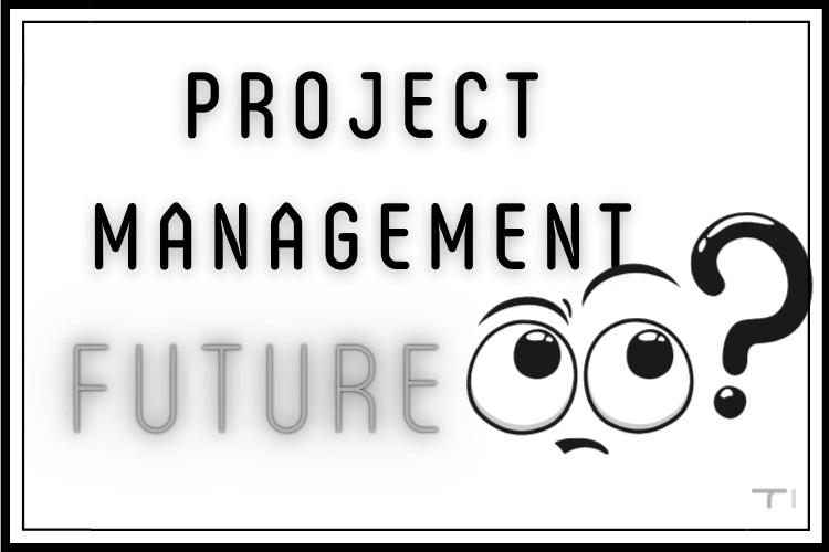 project management future banner with thinking face and question mark