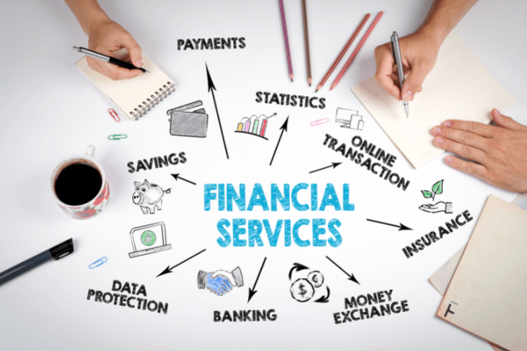 Various Financial Services illustrated.